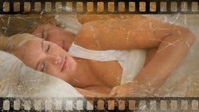 Παλαιό βίντεο ταινιών κινηματογράφων απόθεμα βίντεο