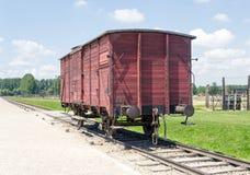 Παλαιό βαγόνι εμπορευμάτων τραίνων μεταφορών, στρατόπεδο συγκέντρωσης auschwitz-Birkenau Στοκ φωτογραφία με δικαίωμα ελεύθερης χρήσης