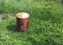 Παλαιό βαρέλι πετρελαίου Στοκ Εικόνες