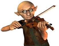 παλαιό βιολί ατόμων διανυσματική απεικόνιση