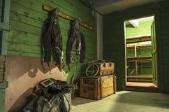 Παλαιό, βιομηχανικό σύστημα φίλτρο-εξαερισμού, στο υπόγειο ενός εγκαταλειμμένου καταφυγίου βομβών στοκ εικόνα με δικαίωμα ελεύθερης χρήσης
