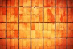 Παλαιό βρώμικο κόκκινο κεραμίδι ως υπόβαθρο Στοκ Φωτογραφίες