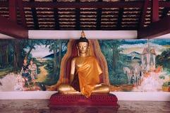 Παλαιό γλυπτό του Βούδα στο Si Thammarat, Τ Wat Phra Mahathat Nakhon Στοκ Φωτογραφίες