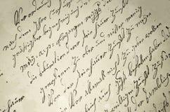 Παλαιό γράψιμο στοκ εικόνες