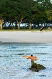 Παλαιό δίχτυ ρίψεων ψαράδων στοκ φωτογραφία