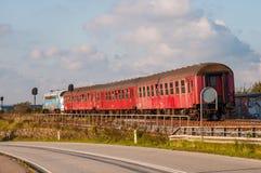 Παλαιό δανικό εκλεκτής ποιότητας τραίνο στο νησί Masnedoe στη Δανία Στοκ εικόνα με δικαίωμα ελεύθερης χρήσης