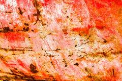 Παλαιό διαβρωμένο υπόβαθρο τοίχων μετάλλων με το λεπιοειδές κόκκινο χρώμα Σκουριασμένη λεπιοειδής ραγισμένη επιφάνεια μετάλλων Αφ στοκ φωτογραφίες με δικαίωμα ελεύθερης χρήσης