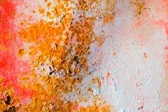 Παλαιό διαβρωμένο υπόβαθρο τοίχων μετάλλων με το λεπιοειδές κόκκινο χρώμα Σκουριασμένη λεπιοειδής ραγισμένη επιφάνεια μετάλλων Αφ στοκ εικόνες με δικαίωμα ελεύθερης χρήσης