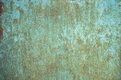 Παλαιό διαβρωμένο υπόβαθρο τοίχων μετάλλων με το λεπιοειδές μπλε χρώμα Σκουριασμένη λεπιοειδής ραγισμένη επιφάνεια μετάλλων Αφαιρ στοκ εικόνες με δικαίωμα ελεύθερης χρήσης
