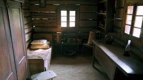 Παλαιό δωμάτιο, σπίτι Hutsul, Ουκρανία αιώνας 18 4K φιλμ μικρού μήκους