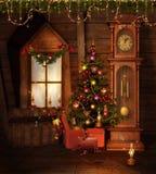 παλαιό δωμάτιο Χριστουγέ&n απεικόνιση αποθεμάτων