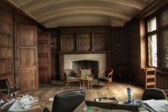Παλαιό εγκαταλειμμένο γραφείο 70 ύφος ` s στοκ φωτογραφίες