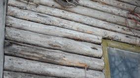 Παλαιό εγκαταλειμμένο ξύλινο σπίτι απόθεμα βίντεο