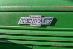 Παλαιό εκλεκτής ποιότητας αυτοκίνητο Cheverolet decal στοκ εικόνες