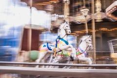 Παλαιό εκλεκτής ποιότητας ιπποδρόμιο στο πάρκο Tibidabo στη Βαρκελώνη Στοκ εικόνα με δικαίωμα ελεύθερης χρήσης