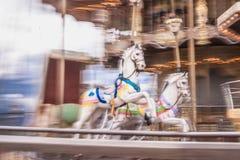 Παλαιό εκλεκτής ποιότητας ιπποδρόμιο στο πάρκο Tibidabo στη Βαρκελώνη Στοκ εικόνες με δικαίωμα ελεύθερης χρήσης