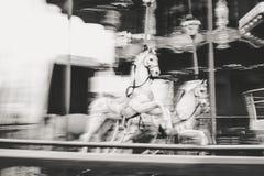 Παλαιό εκλεκτής ποιότητας ιπποδρόμιο στο πάρκο Tibidabo στη Βαρκελώνη Στοκ Φωτογραφία