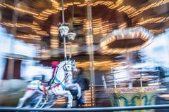 Παλαιό εκλεκτής ποιότητας ιπποδρόμιο στο πάρκο Tibidabo στη Βαρκελώνη Στοκ φωτογραφία με δικαίωμα ελεύθερης χρήσης