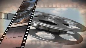 Παλαιό εξέλικτρο ταινιών ελεύθερη απεικόνιση δικαιώματος