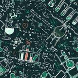 Παλαιό εργαστηριακό άνευ ραφής πρότυπο χημείας Στοκ Φωτογραφία