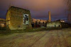 Παλαιό εργοστάσιο αυτοκινήτων της ΕΣΣΔ στη Λετονία, πόλη Cesis Στοκ φωτογραφία με δικαίωμα ελεύθερης χρήσης