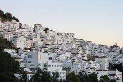 Παλαιό ηλιοβασίλεμα πόλης βουνών Λευκών Οίκων στοκ εικόνες
