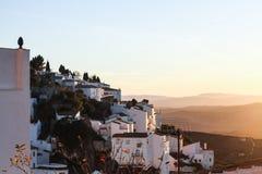 Παλαιό ηλιοβασίλεμα πόλης βουνών Λευκών Οίκων στοκ φωτογραφία