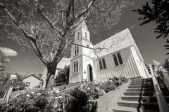Παλαιό ιστορικό σπίτι σε γραπτό στοκ εικόνα με δικαίωμα ελεύθερης χρήσης