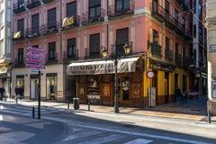 Παλαιό κέντρο οδών towh σε Σαραγόσα, Ισπανία στοκ φωτογραφία