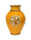 Παλαιό κίτρινο vase Στοκ εικόνες με δικαίωμα ελεύθερης χρήσης