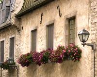 παλαιό Κεμπέκ windowsills στοκ εικόνες