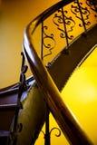 παλαιό κιγκλίδωμα stairwell Στοκ Φωτογραφίες
