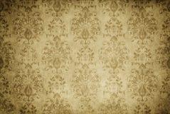 Παλαιό κιτρινισμένο υπόβαθρο εγγράφου με την εκλεκτής ποιότητας διακόσμηση Στοκ Φωτογραφίες