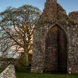 Παλαιό κοβάλτιο Meath περιποίησης κάστρων κοντινό στοκ φωτογραφίες
