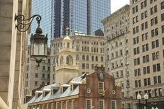 παλαιό κράτος σπιτιών της Βοστώνης στο κέντρο της πόλης Στοκ φωτογραφία με δικαίωμα ελεύθερης χρήσης