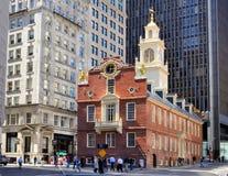 παλαιό κράτος σπιτιών της Βοστώνης Στοκ Εικόνα