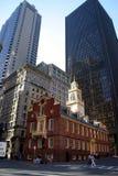 παλαιό κράτος σπιτιών της Βοστώνης Στοκ Εικόνες