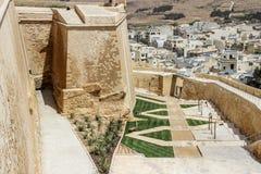 Παλαιό κτήριο στην ακρόπολη σε Βικτώρια Μάλτα Στοκ Εικόνες