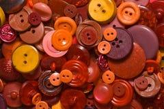 παλαιό κόκκινο κουμπιών Στοκ Εικόνες