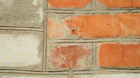 Παλαιό κόκκινο λευκό τουβλότοιχος φιλμ μικρού μήκους
