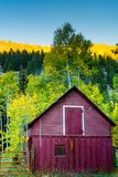 παλαιό κόκκινο σιταποθηκών Στοκ Φωτογραφίες