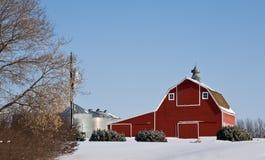 παλαιό κόκκινο σιταποθη&kap Στοκ Φωτογραφία
