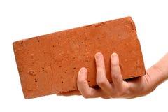 παλαιό κόκκινο χεριών τούβ&l στοκ φωτογραφία