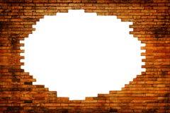 παλαιό λευκό τοίχων τρυπών Στοκ Φωτογραφία