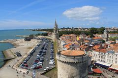 παλαιό λιμάνι του Λα Ροσέλ στη Γαλλία στοκ φωτογραφία με δικαίωμα ελεύθερης χρήσης