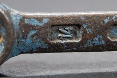 Παλαιό μέγεθος 14 γαλλικών κλειδιών σιδήρου Στοκ εικόνες με δικαίωμα ελεύθερης χρήσης