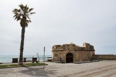 Παλαιό μέρος της αμυντικής εργασίας σε Alghere στο itailian νησί του Al Στοκ εικόνα με δικαίωμα ελεύθερης χρήσης