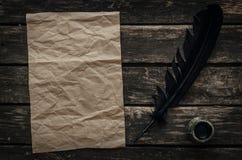 Παλαιό μήνυμα επιστολών Τσαλακωμένο κενό φύλλο σελίδων εγγράφου Στοκ φωτογραφίες με δικαίωμα ελεύθερης χρήσης