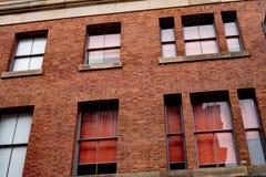 Παλαιό μειωμένο εγκαταλειμμένο παλαιό κτήριο στο Μάντσεστερ Στοκ Εικόνες