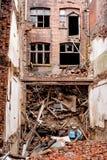 Παλαιό μειωμένο εγκαταλειμμένο παλαιό κτήριο στο Μάντσεστερ Στοκ φωτογραφία με δικαίωμα ελεύθερης χρήσης